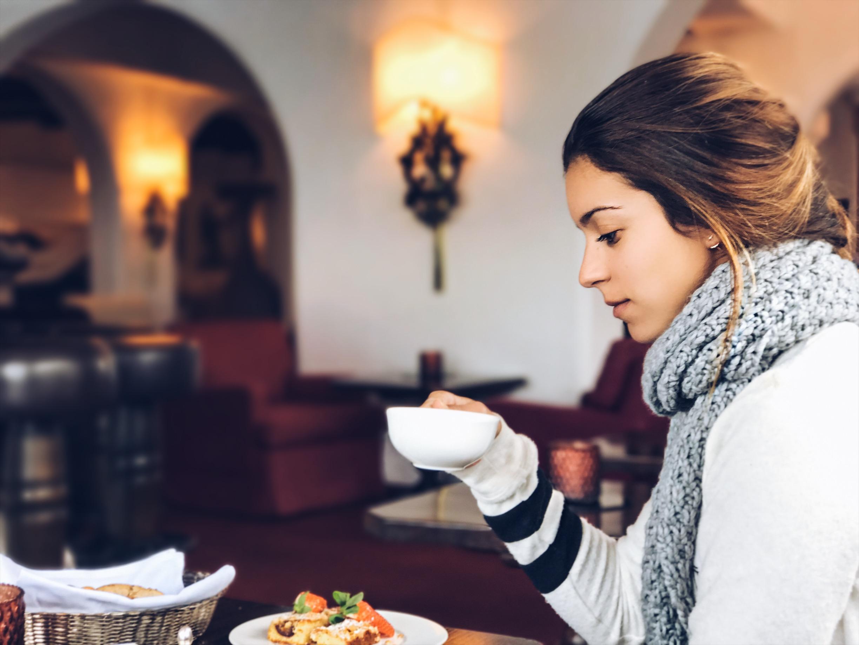 Chá da tarde no Thurners Alpenhof