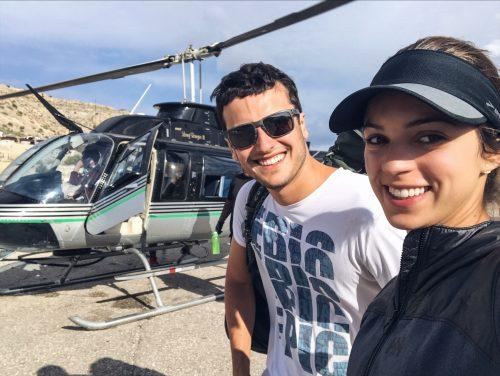 voltando de hélicóptero