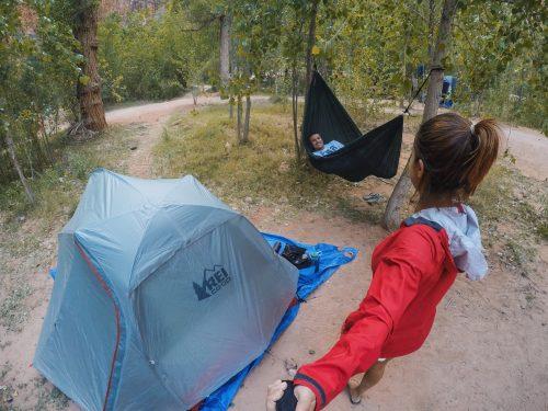 camping na Havasu Falls