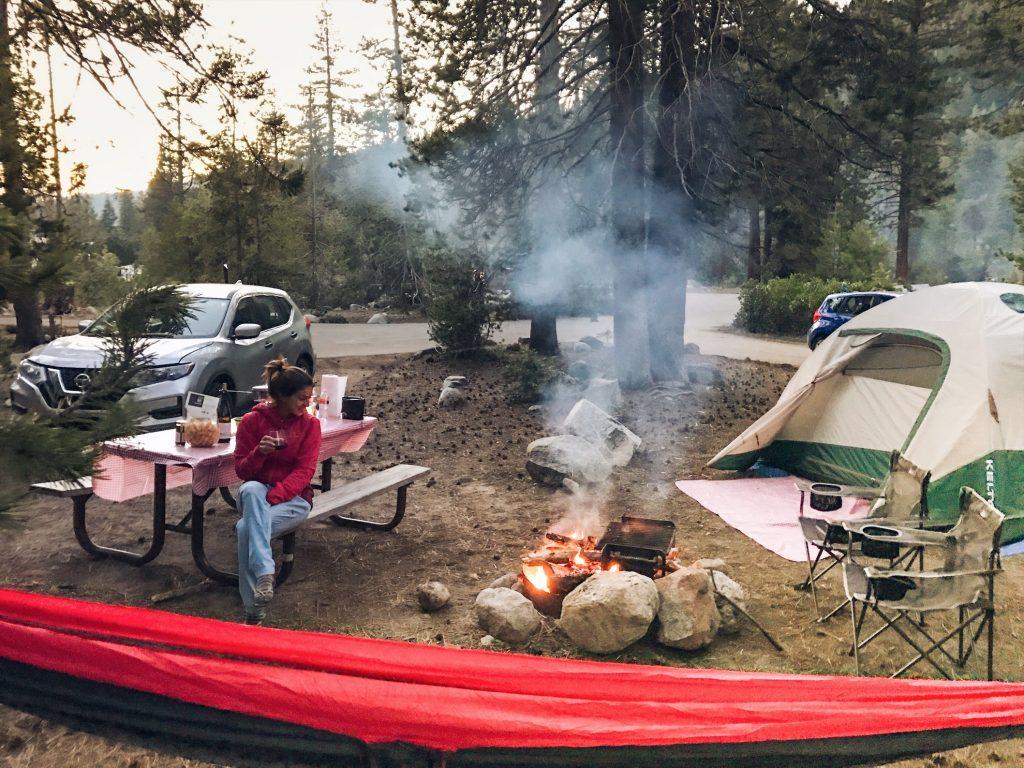 acampando na california