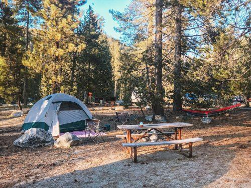 Camping em Sequoia, California