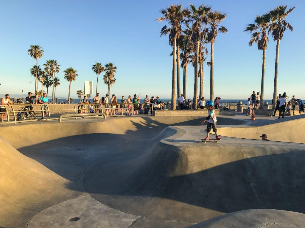 Venice e a famosa pista de skate, na california