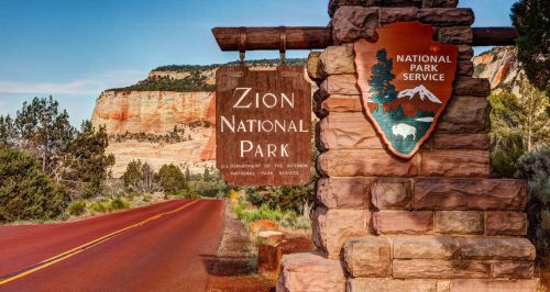 Foto da entrada de Zion