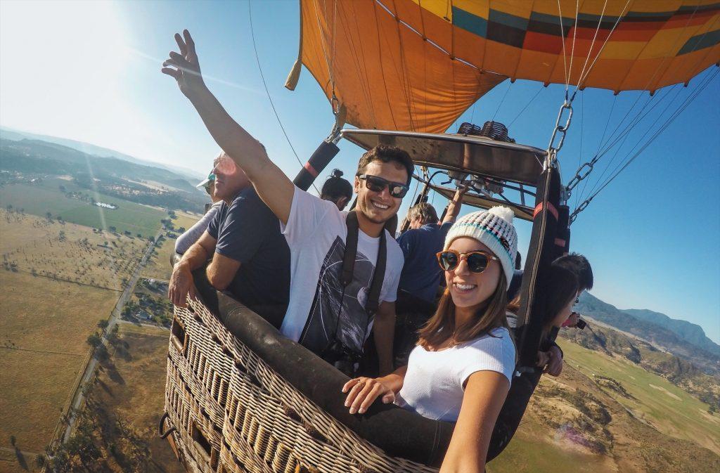 voo de balão em Napa Valley