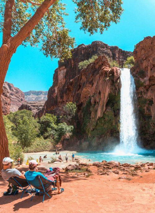 cachoeira Havasu Falls no Arizona