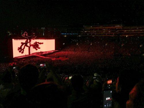 show do U2 em LA, na california