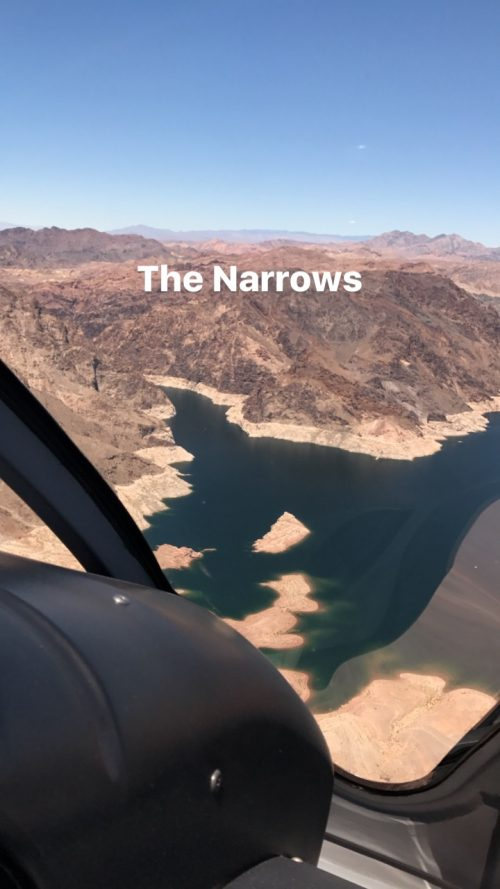 vendo o the narrows após o Grand Canyon