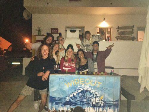 equipe no surfcamp em Portugal