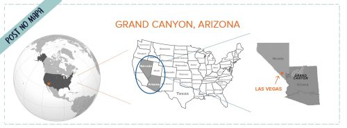 Grand Canyon no mapa