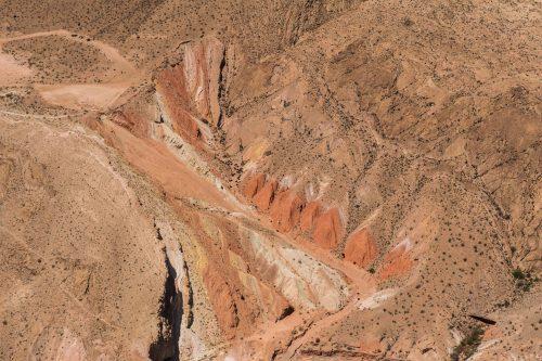 montanhas sobrevoo pelo grand canyon
