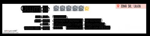 informações em resumo sobre o restaurante olympe no rio de janeiro