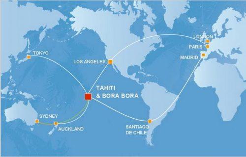 como voar para a Polinesia Francesa
