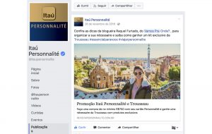 VamosPraOnde no facebook do Itaú
