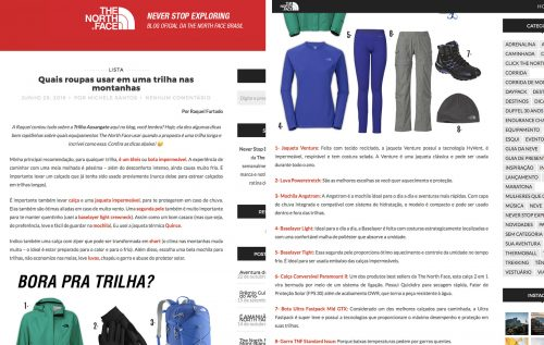 VamosPraOnde no blog da The North face post 2