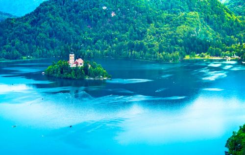 a ilha do lado de Bled