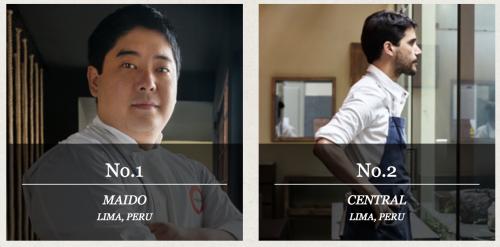 foto dos chefs dos dois melhores restaurantes em lima