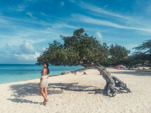 praia no roteiro de um dia em aruba