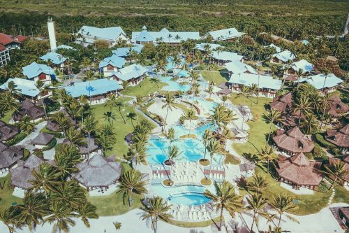 foto aerea do Summerville beach resort
