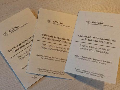 certificado internacional de vacina contra febre amarela