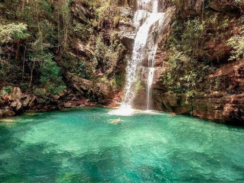 chapada dos veadeiros - cachoeira Santa Barbara