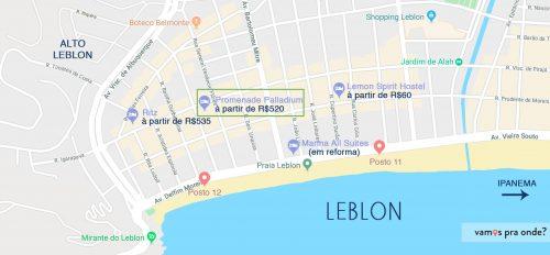 mapa onde se hospedar no rio de janeiro Leblon