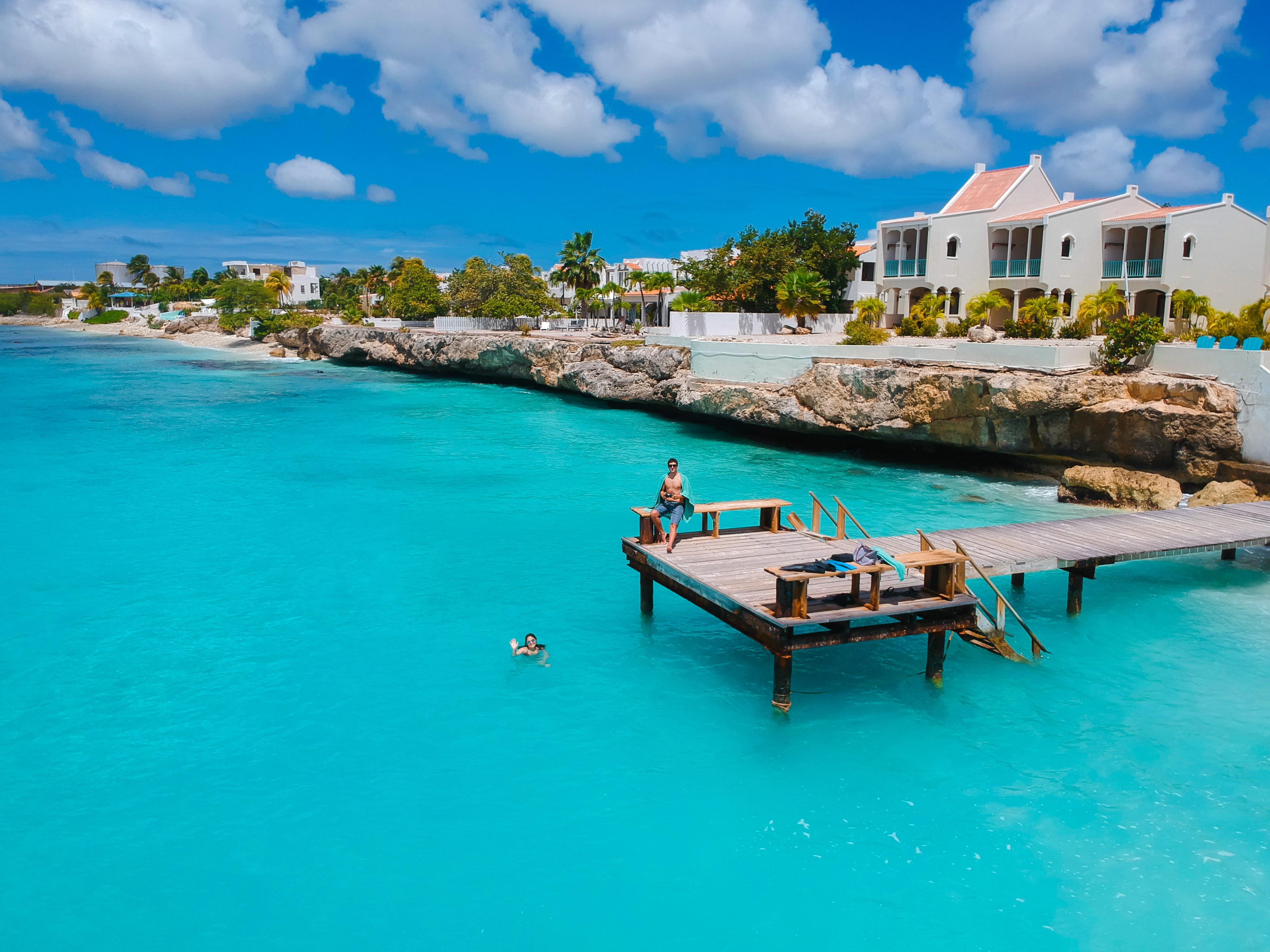 foto no pier em Bonaire