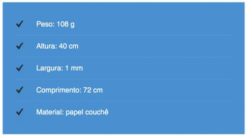 dimensões do mapa raspadinha - dica de presente