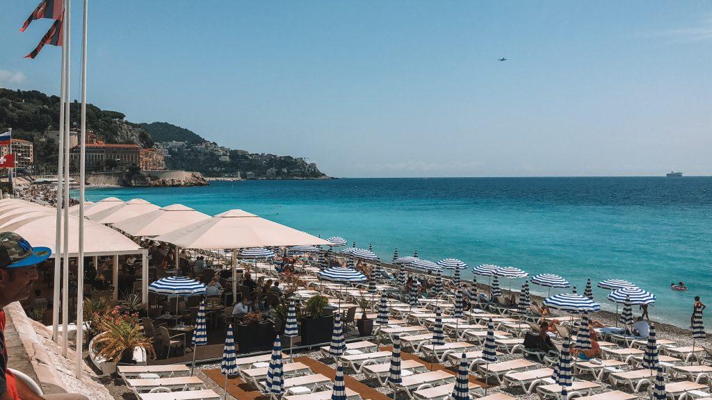 praia de nice na Côte d'Azur