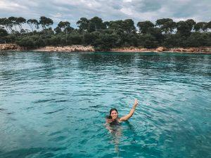 banho de mar nas ilhas de cannes, cote dazur