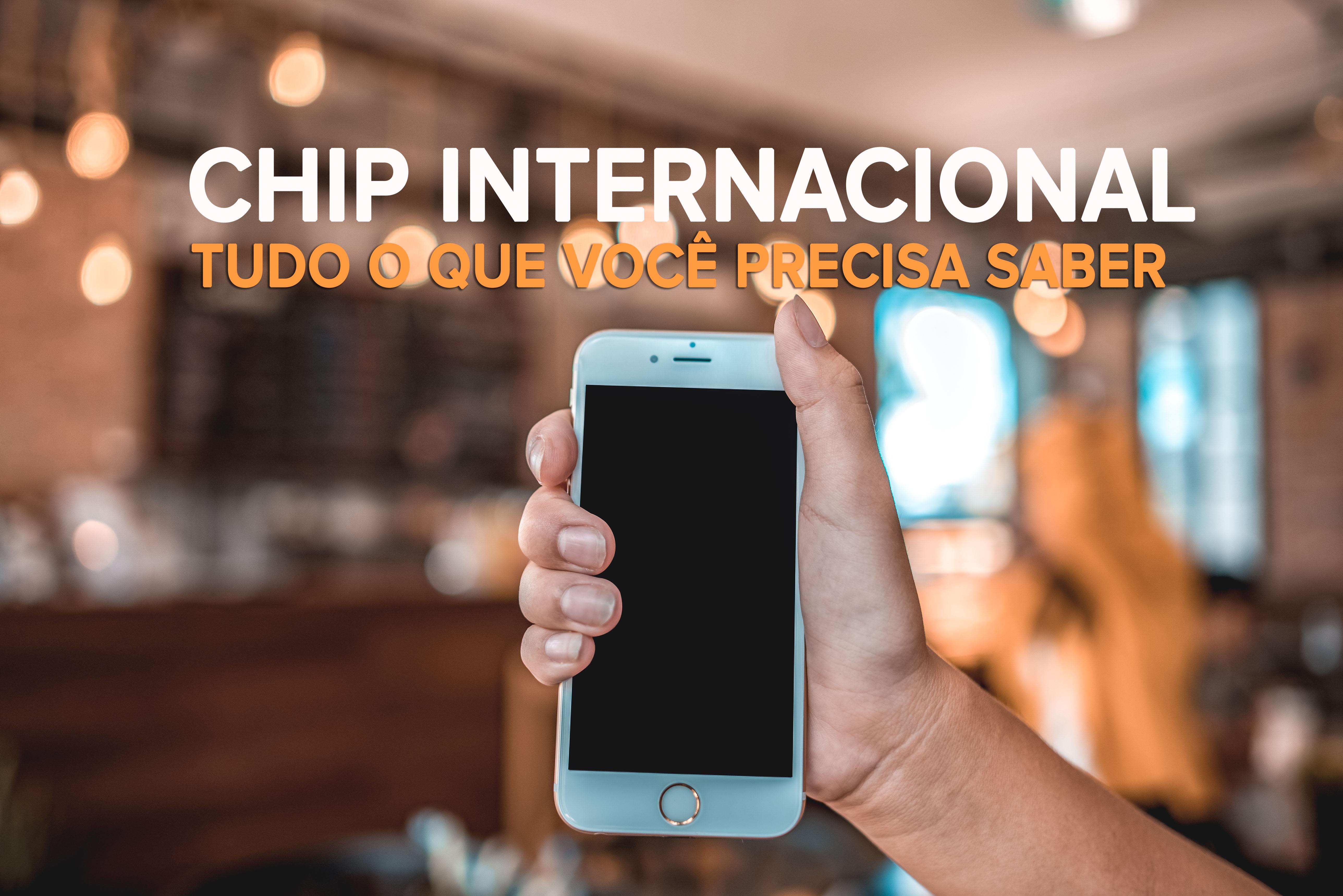 imagem de celular com chip internacional