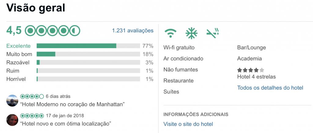 avaliação do Even Hotel para o Guia o que fazer em Nova York