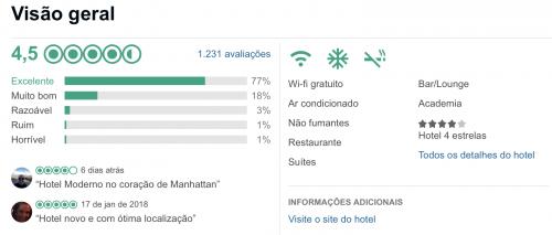 avaliação do Even Hotel em Nova York
