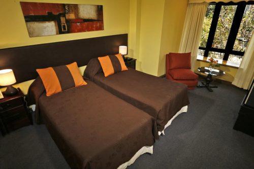 Onde ficar em santiago Hotel Principado quarto do hotel