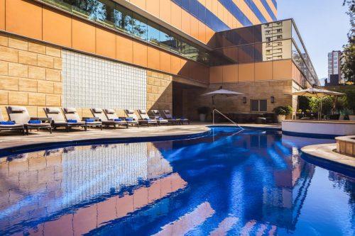OndeFicarEmSantiago - Piscina Hotel Santiago Marriot