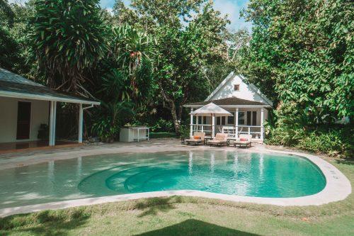 quarto família no hotel GoldenEye, Jamaica
