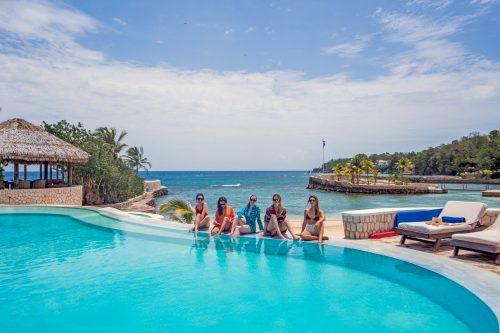 piscina digna de lua de mel na Jamaica