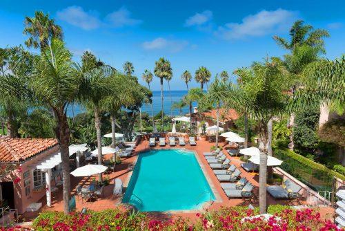 Onde ficar em La Jolla: La Valencia (foto da piscina)