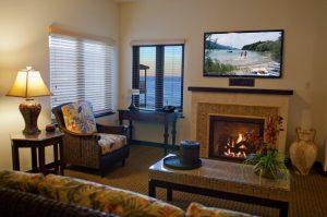 Onde ficar em La Jolla: Pantai Inn (foto da sala/quarto)