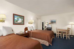 Onde ficar em La Jolla: Travel Lodge (foto do quarto)