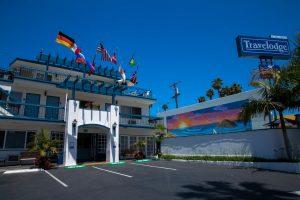 Onde ficar em La Jolla: Travel Lodge (foto da entrada)