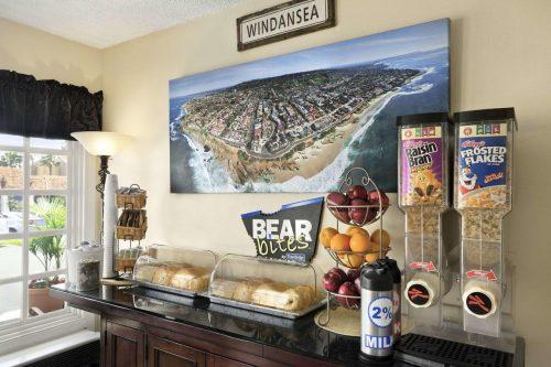 Onde ficar em La Jolla: Travel Lodge (foto da area comum)