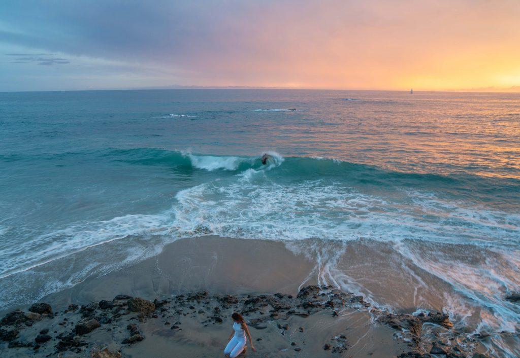por do sol na costa sul da california