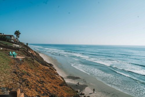 Grandview beach, costa sul da california