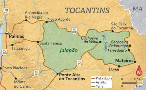 mapa do Jalapão em detalhes