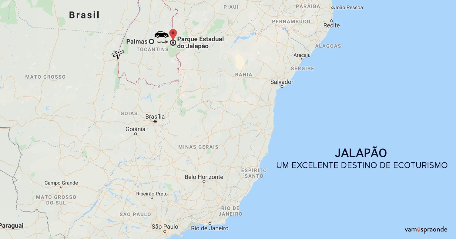 mapa do Jalapão