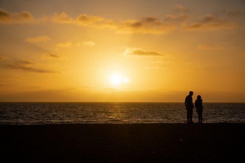 pôr do sol em Venice Beach
