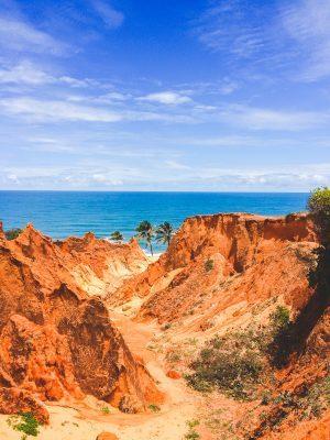 Melhores Praias Do Brasil. Praia de Morro Branco, no Ceará