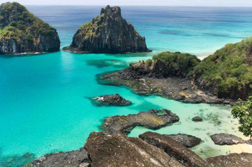 Melhores Praias Do Brasil.praia baia do sancho em Noronha