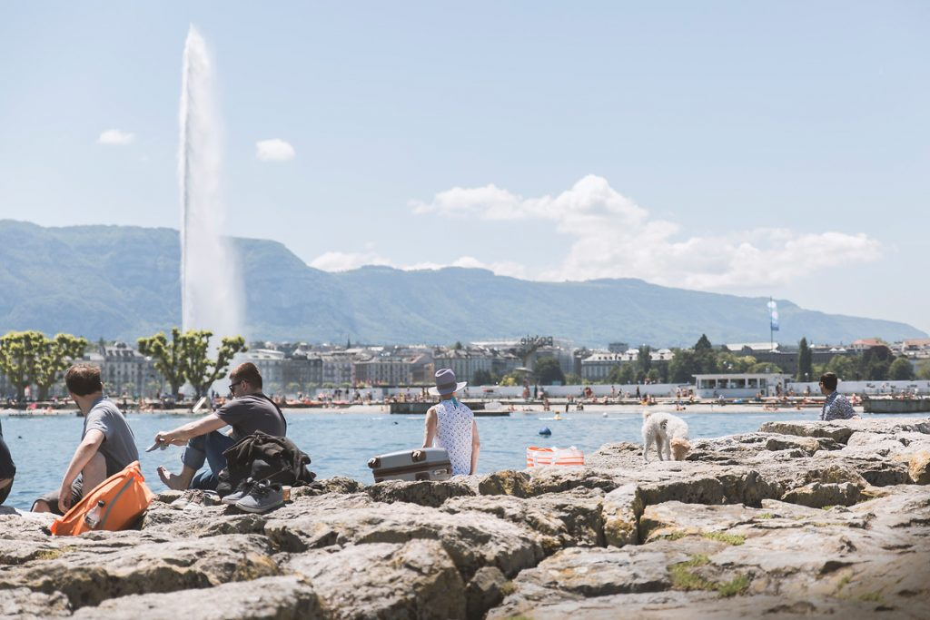 foto no Bains des Paquis em Genebra
