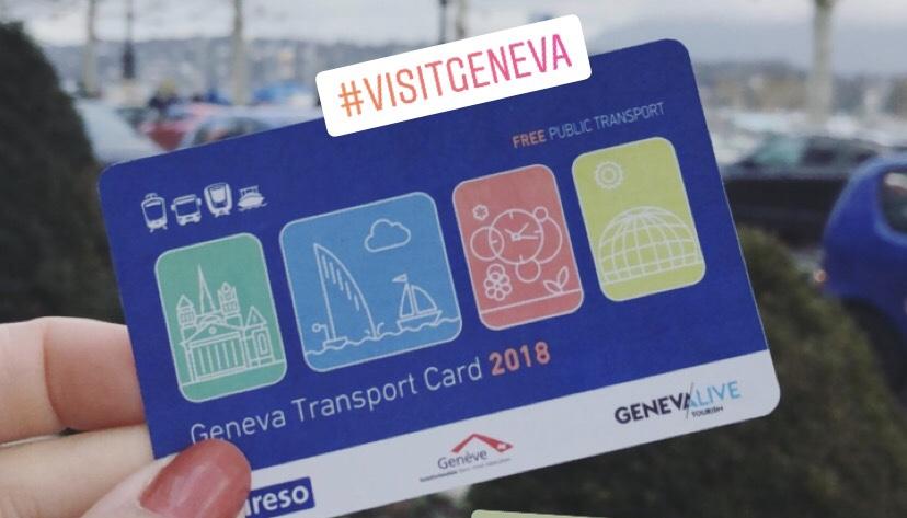 cartão gratuito de transporte em genebra